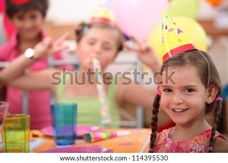 Little girl birthday party - stock photo