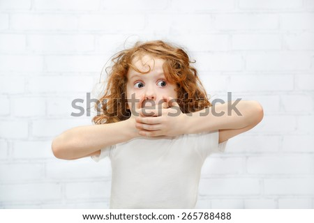 Kid Covering Face Stock Images Royalty Free Images