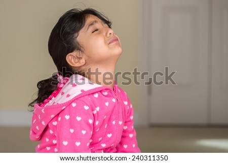 Little Girl Crying - stock photo
