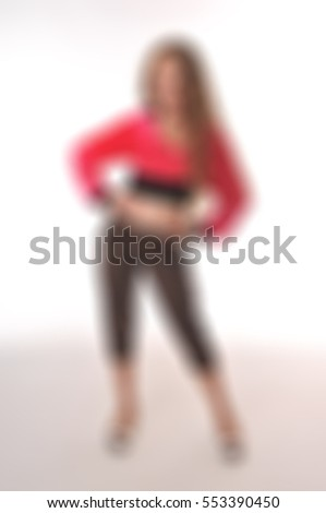 Little girl dancer theme creative abstract blur background with bokeh effect