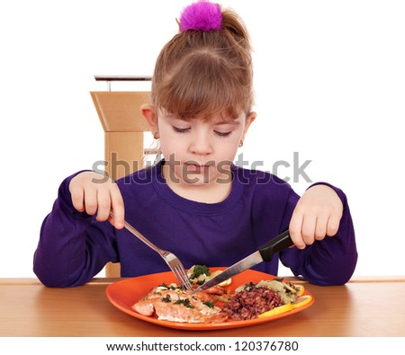 little girl healthy eating - stock photo