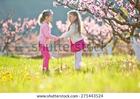 Little girl in a meadow - stock photo