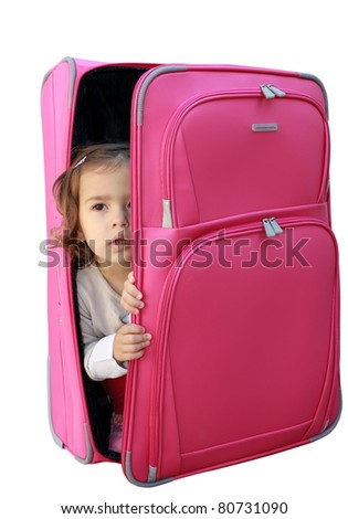 little girl in the suitcase