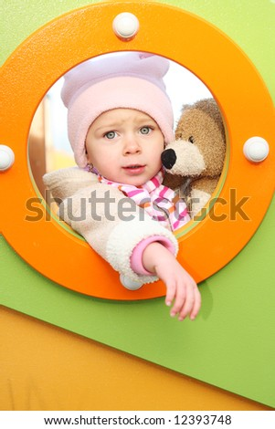 little girl outdoor child - stock photo
