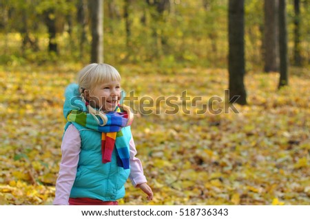 Little girl outdoors.