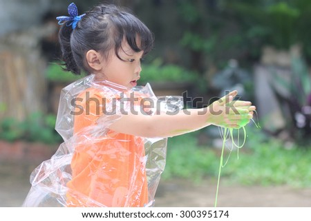 little girl playing color