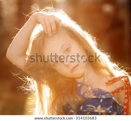 little girl portrait of the sun