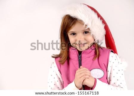 little girl posing - stock photo
