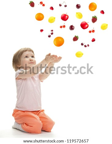 Little girl reaching her hands out