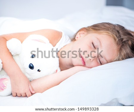 little girl sleep - stock photo