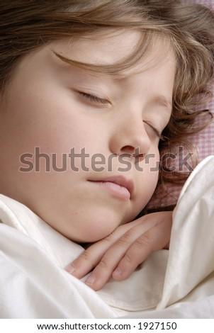 little girl sleeping - stock photo