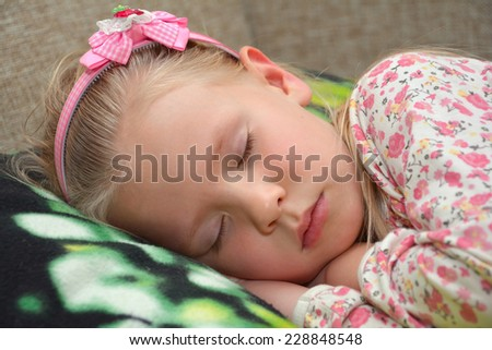 little girl sleeping - stock photo