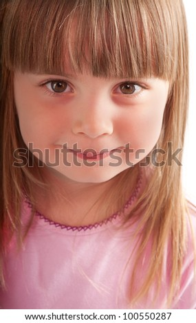 little girl smiling close-up