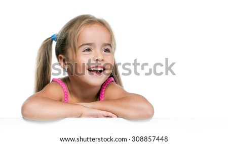 Little Girl Smiling - Stock image