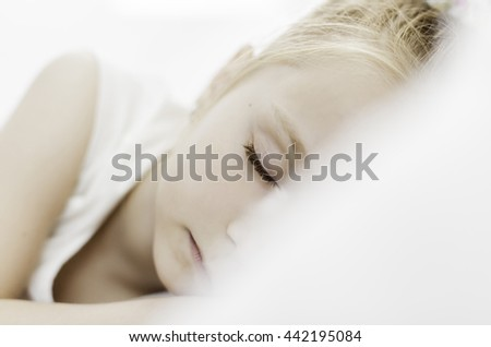 Little girl who sleeps peacefully - stock photo