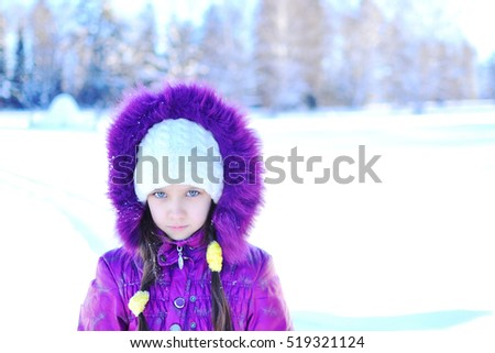 Little girl. Winter