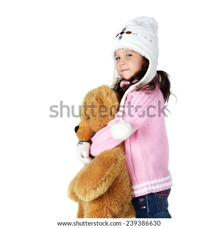 little girl with a teddy-bear