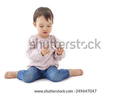 little girl with a thermometer