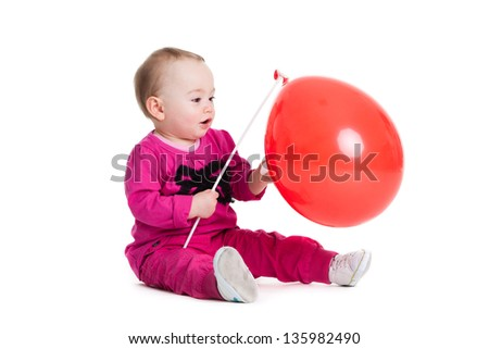 Little girl with  ball.
