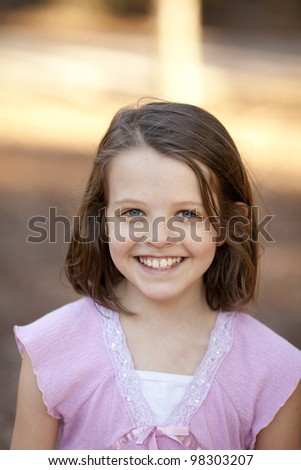 little girl with blue eyes, portrait