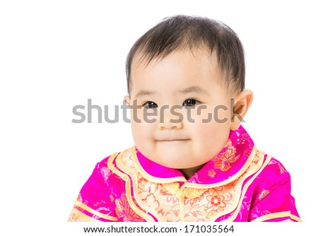 Little girl with chinese style dressing