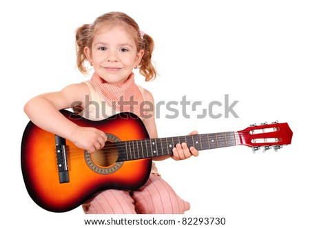 little girl with guitar
