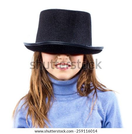Little girl with top hat
