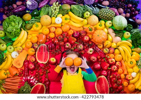 fruit girl healthy vegetables and fruits
