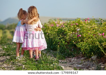 Little girls in nature