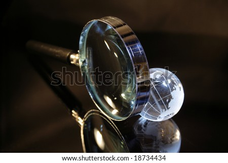 Little glassy earth and magnifier