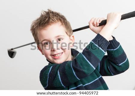 Little Golfer - stock photo