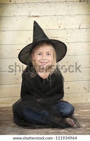 little halloween witch - stock photo