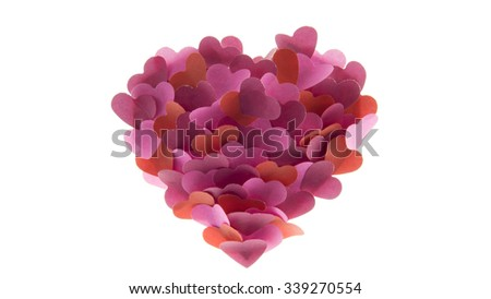 little hearts on white background