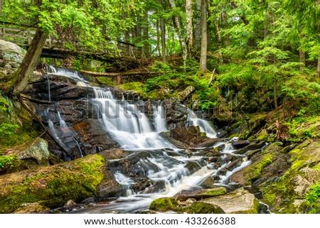 Little High Falls are located in Bracebridge Ontario Canada. - stock photo