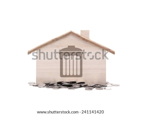 Little home  with money - stock photo