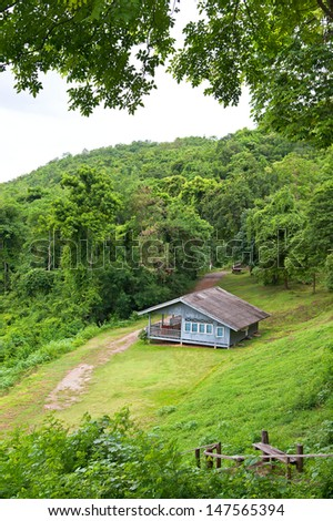 Little House in the Forest (Thailand). - stock photo
