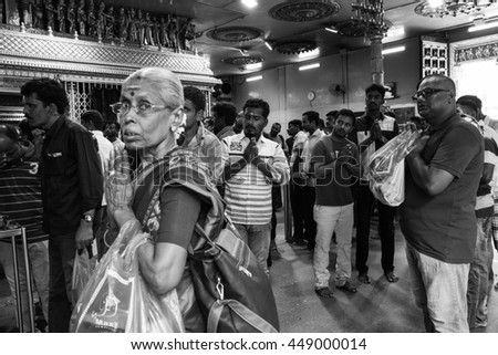 Little India/Singapore - 7th August 2016: Little India is one of the most visited place in Singapore.  Yearly there are thousands of visitors visited Little India to have a taste of Indian culture. - stock photo