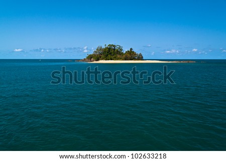 little island - stock photo