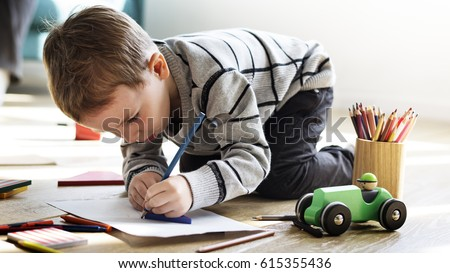 2019 - [Subaru] Legacy & Outback Stock-photo-little-kid-drawing-sketching-cute-adorable-615355436