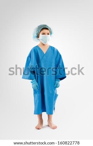 Little Kid playing Surgeon  - stock photo