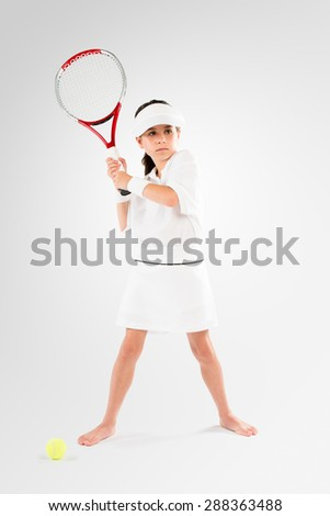 Little Kid playing Tennis Champion