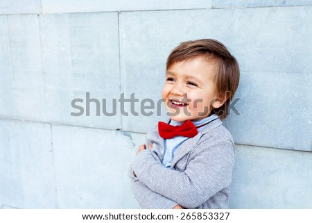 little kid smiling