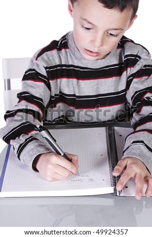 Little Kid Writing His Christmas Wish List to Santa