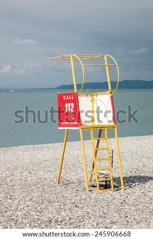 Little lifeguard tower - stock photo
