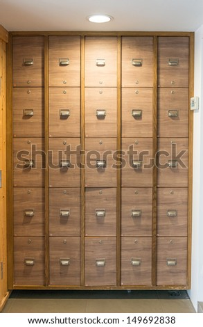 Little Lockers in changing room