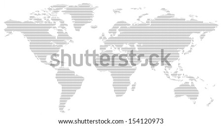Little men pattern contemporary grey world stock illustration little men pattern contemporary grey world map showing the population of our planet gumiabroncs Images