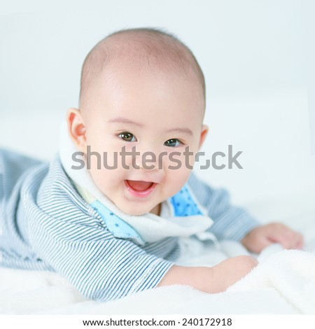 Little newborn baby boy - stock photo
