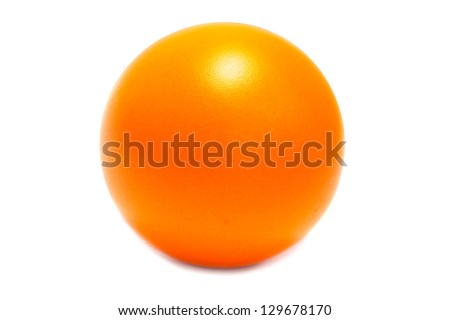little orange ball isolated on a white background - stock photo