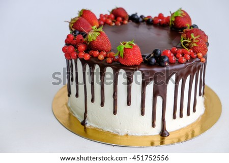 Little Over Top Birthday Cake Decorated Stock Photo 451752556