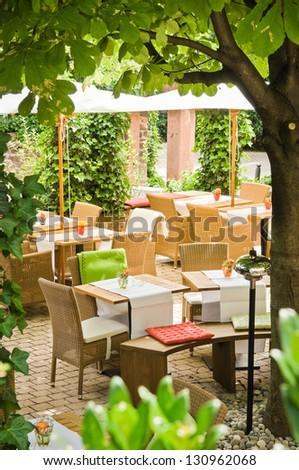 little restaurant at the tuscany/italy - stock photo